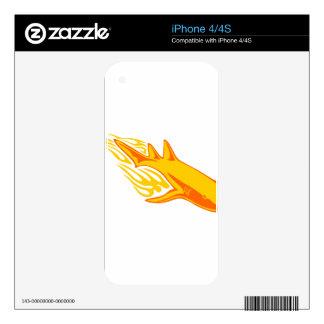 Tiburón en llamas iPhone 4S skin