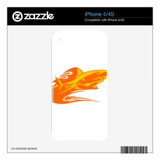 Tiburón en llamas skin para el iPhone 4