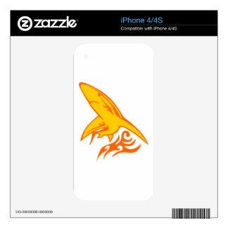 Tiburón en llamas skin para el iPhone 4S