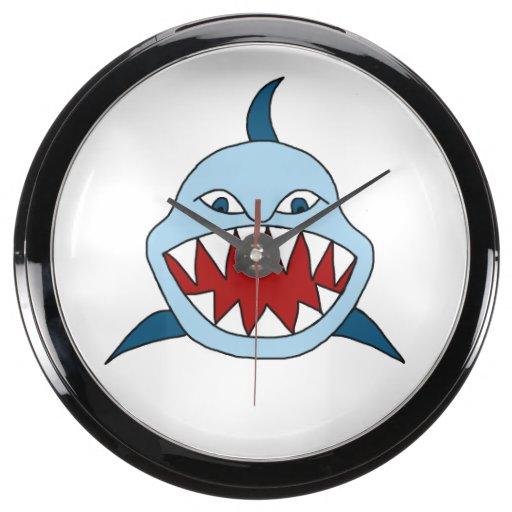 Tiburón enojado relojes aqua clock