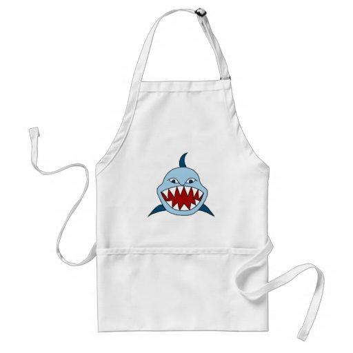 Tiburón enojado delantal