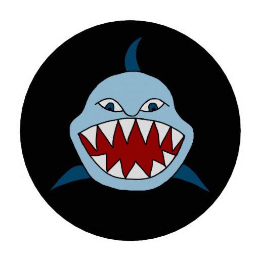 Tiburón enojado fichas de póquer