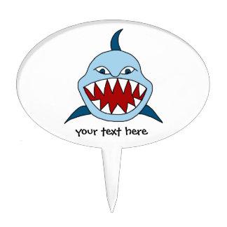 Tiburón enojado figuras de tarta