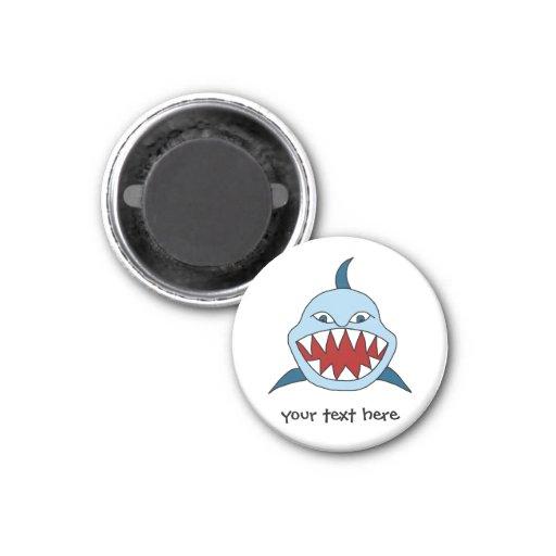 Tiburón enojado iman para frigorífico