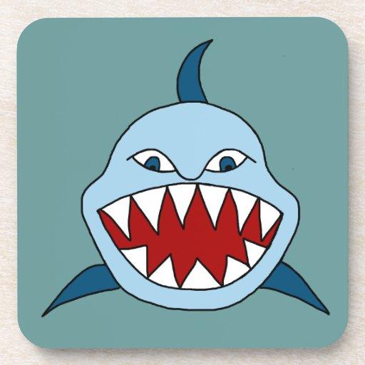 Tiburón enojado posavaso