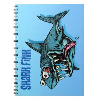 ¡Tiburón Fink! Libros De Apuntes