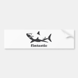 Tiburón - fintastic pegatina para auto