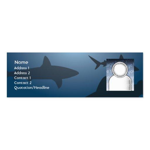 Tiburón - flaco tarjetas de visita mini