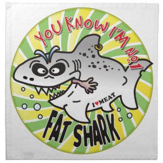 Tiburón gordo del número 1 servilleta