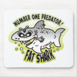 Tiburón gordo despredador alfombrillas de ratones