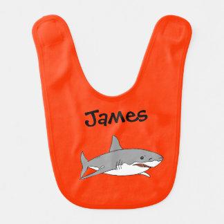 tiburón gris del océano del mar - apenas añada el  baberos para bebé
