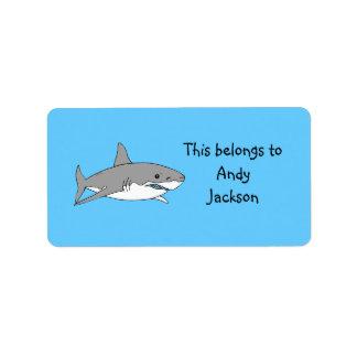 Tiburón gris etiquetas de dirección