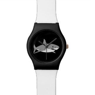 Tiburón gris relojes de pulsera