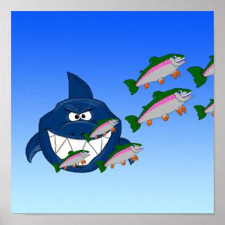 Tiburón hambriento póster
