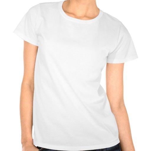 Tiburón inclinado pequeño negro camisetas
