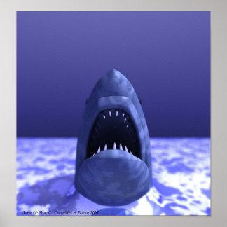 Tiburón jurásico póster
