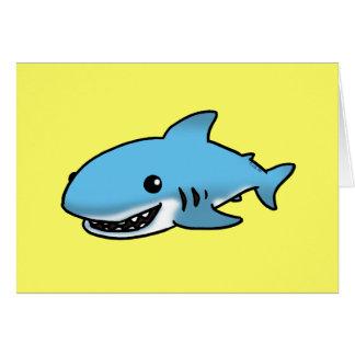 Tiburón lindo tarjeta de felicitación