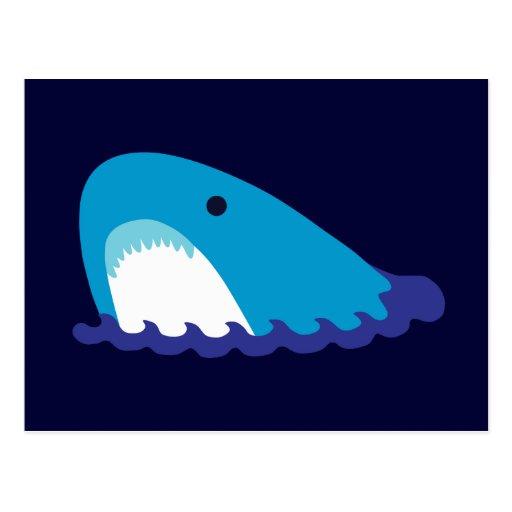 Tiburón lindo tarjetas postales