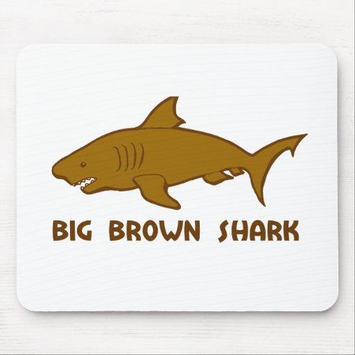 tiburón marrón grande tapetes de ratones