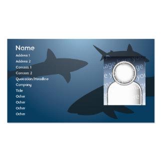 Tiburón - negocio tarjetas de visita