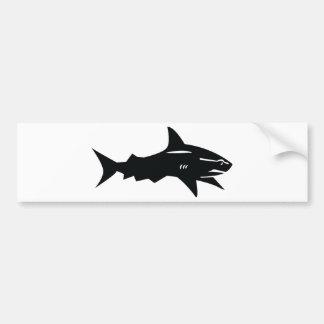 tiburón negro pegatina de parachoque