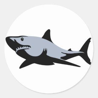 Tiburón Etiqueta Redonda