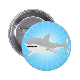 Tiburón Pin Redondo De 2 Pulgadas