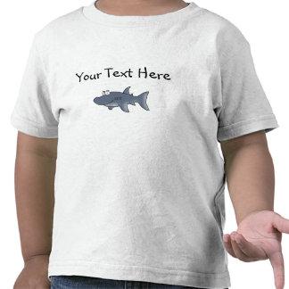 Tiburón pintado a mano para los niños - PERSONALIZ Camisetas