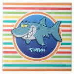 Tiburón; Rayas brillantes del arco iris Azulejos