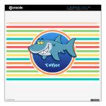 Tiburón; Rayas brillantes del arco iris Calcomanía Para MacBook Air