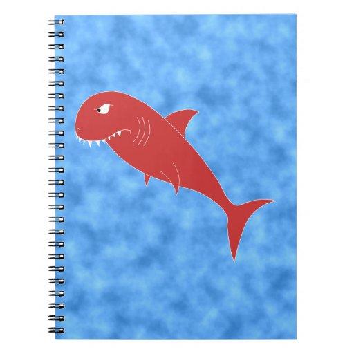 Tiburón rojo cuaderno
