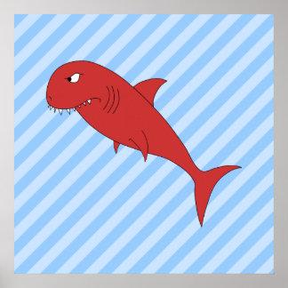 Tiburón rojo posters