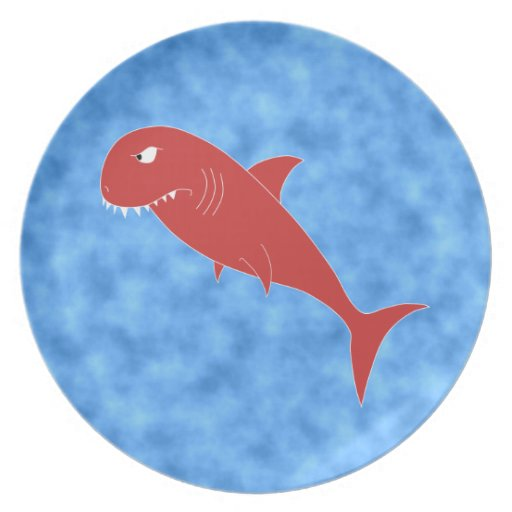 Tiburón rojo platos para fiestas