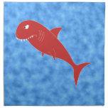 Tiburón rojo servilleta imprimida