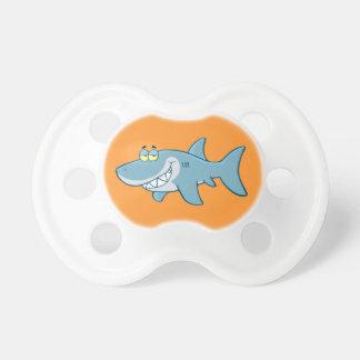 Tiburón sonriente chupetes de bebé