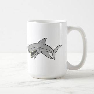 Tiburón Taza Básica Blanca