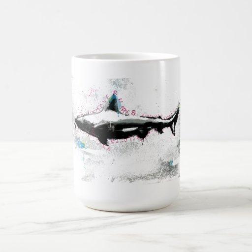 tiburón taza
