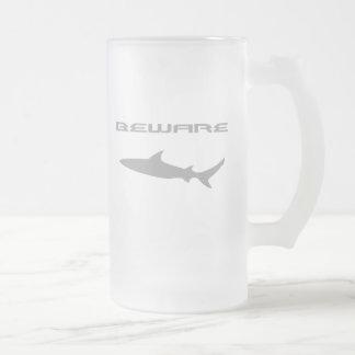 Tiburón Taza De Cristal