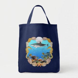 Tiburón y filón bolsa tela para la compra