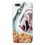 Tiburón y rosas iPhone 5 carcasa
