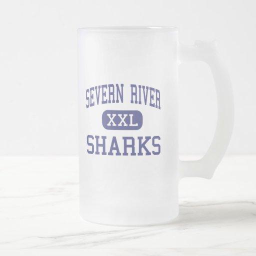 Tiburones Arnold medio Maryland del río de Severn Taza De Café