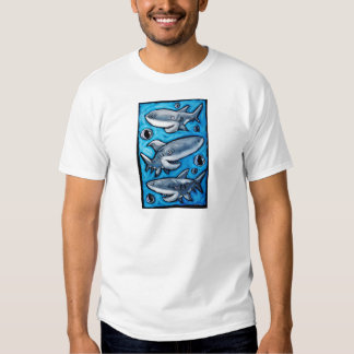 Tiburones azules felices poleras