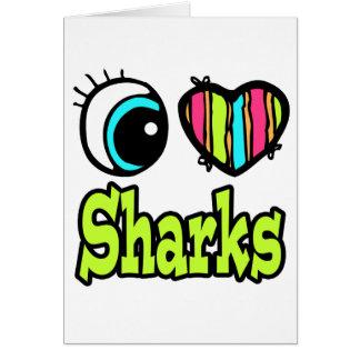 Tiburones brillantes del amor del corazón I del Tarjeta De Felicitación