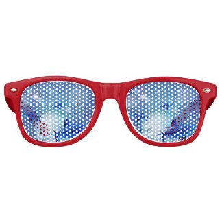 Tiburones con las burbujas lentes de fiesta