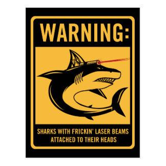 tiburones con los rayos laser del frickin atados postales