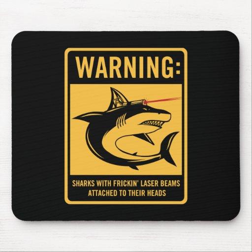 tiburones con los rayos laser del frickin atados alfombrilla de raton