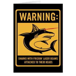 tiburones con los rayos laser del frickin atados tarjeton