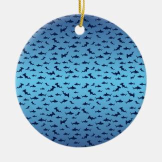 Tiburones de la cabeza de martillo de Mutilple Adorno Redondo De Cerámica
