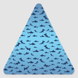 Tiburones de la cabeza de martillo de Mutilple Pegatina Triangular