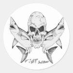 Tiburones del cráneo por FishTs.com Pegatina Redonda